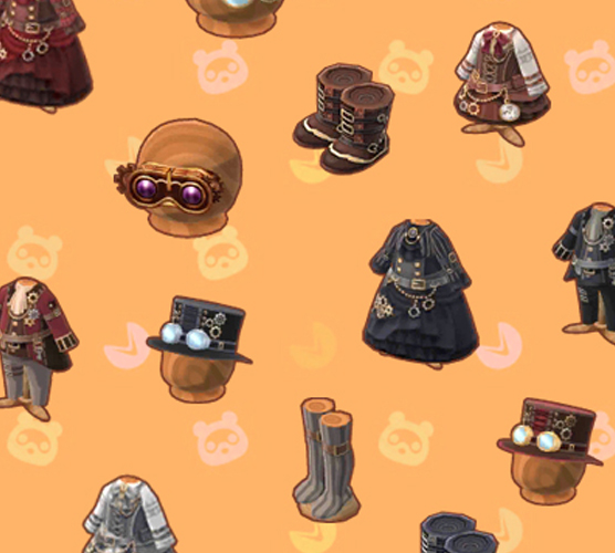 animal crossing pocket camp steampunk collection