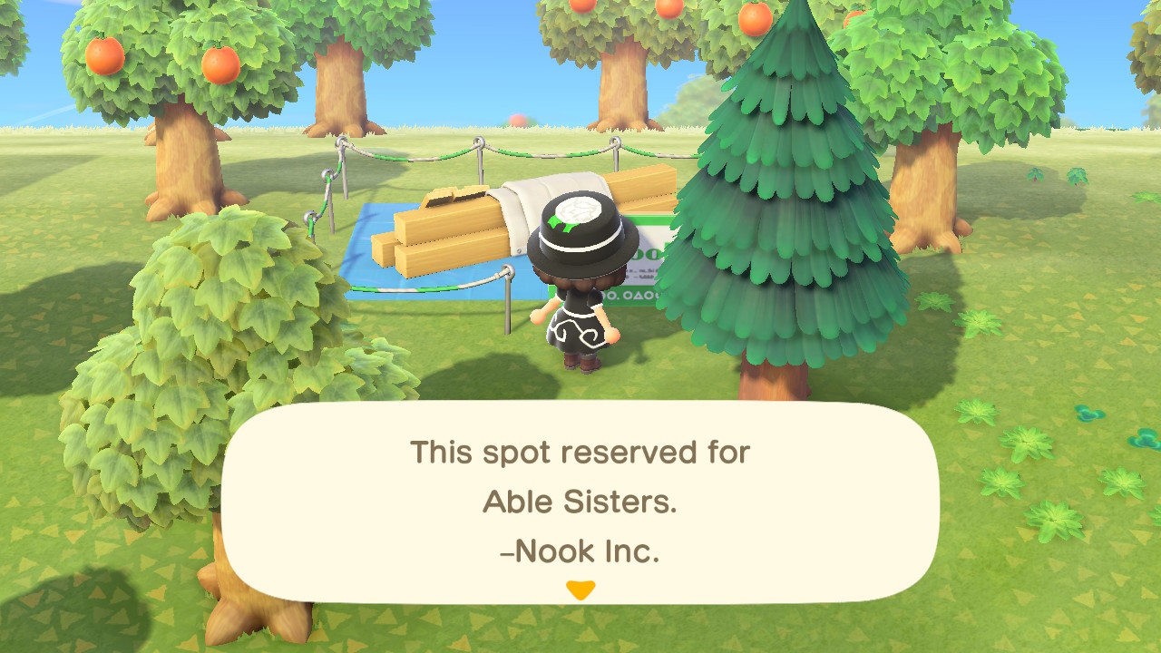 animal crossing new horizons able sisters shop