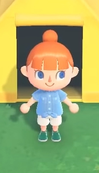 animal crossing clothes blue bow shirt