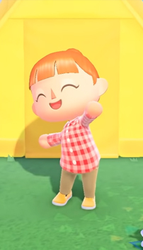 animal crossing clothes red plaid shirt