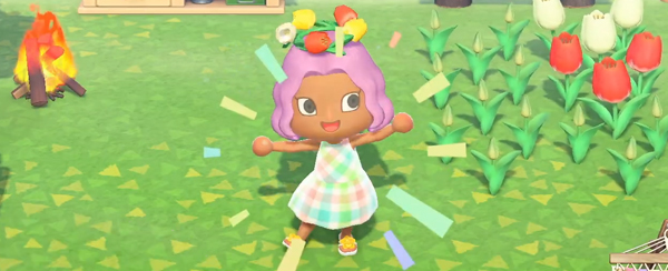 animal crossing new horizons flower garland