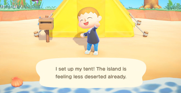 animal crossing new horizons tent