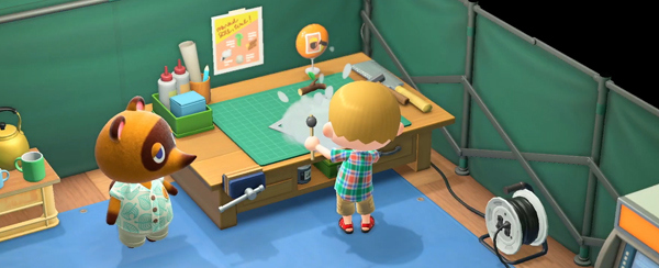 animal crossing new horizons tom nooks workbench