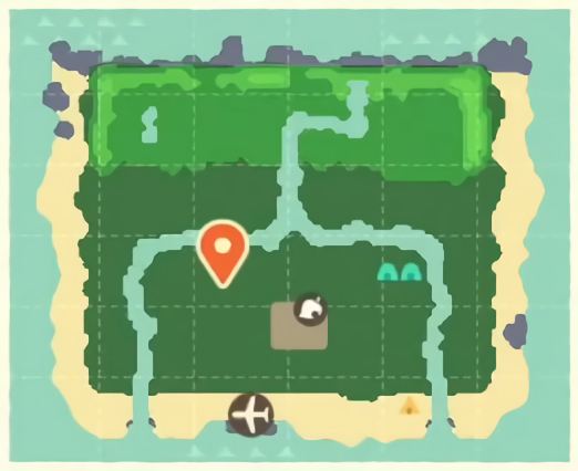 animal crossing new horizons town map acres