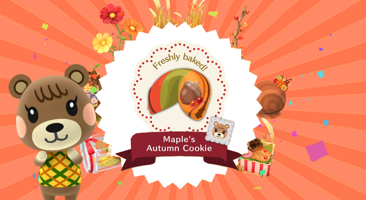 animal crossing pocket camp maples autumn cookie