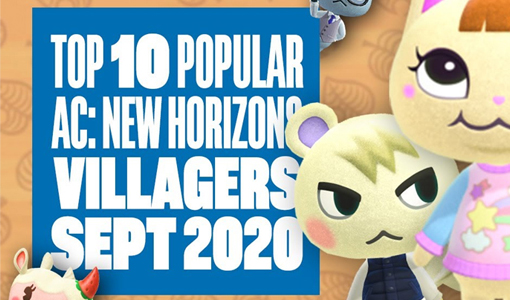 top 10 september popular animal crossing villagers